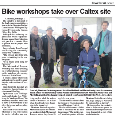 CSN newtown bike hub story